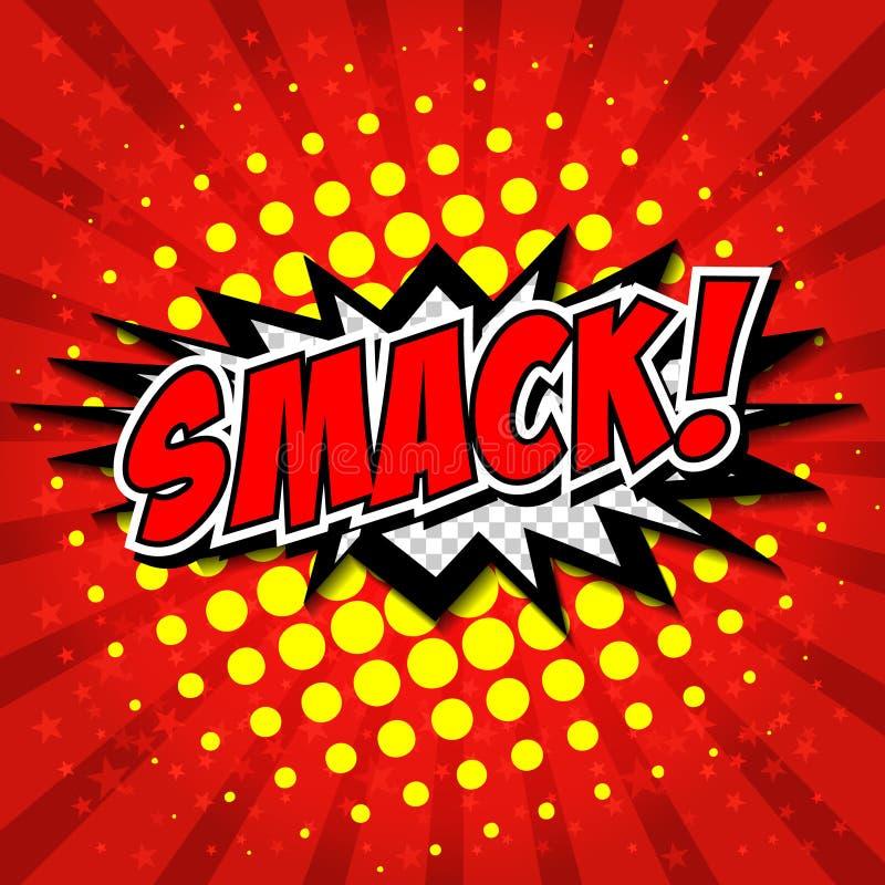 Free Smack! Comic Speech Bubble, Cartoon. Royalty Free Stock Photos - 44584378