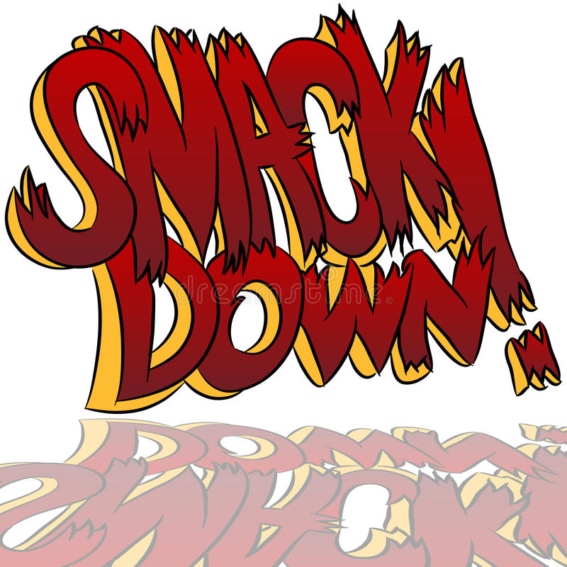 Free Smack Down Comic Sound Effect Text Stock Images - 20083904