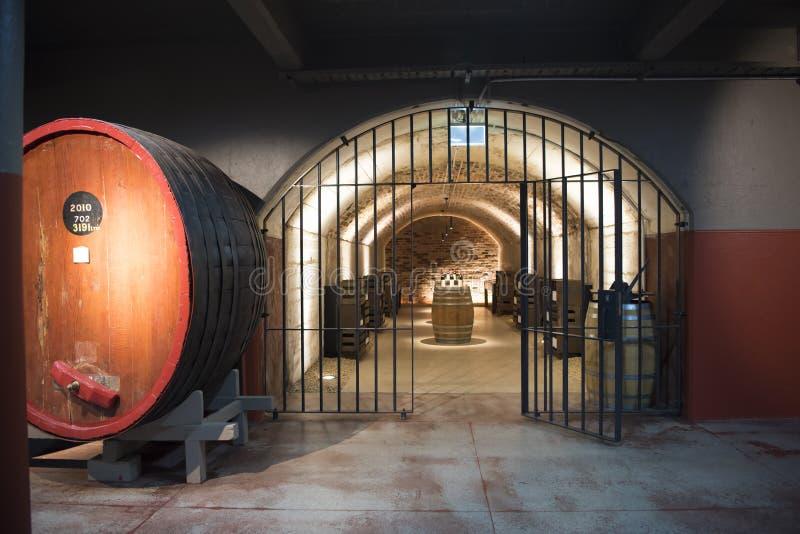 Smaczny pokój w wino lochu obraz royalty free