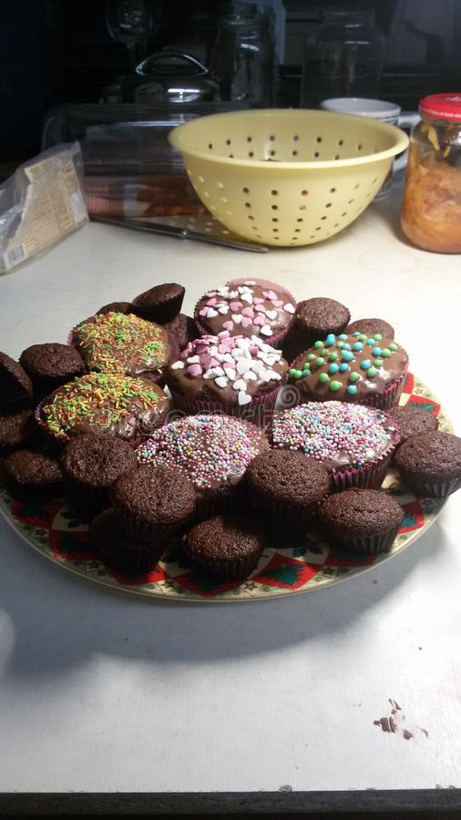 Smak för söt choklad fotografering för bildbyråer