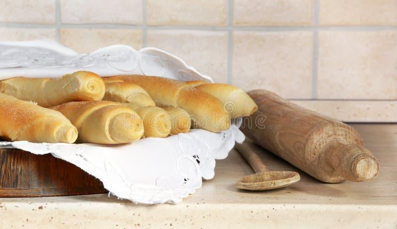 Smakelijk eigengemaakt brood stock afbeelding