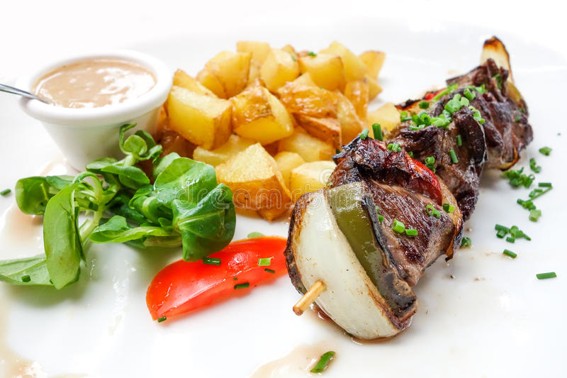 Smakelijk geroosterd vlees royalty-vrije stock afbeelding