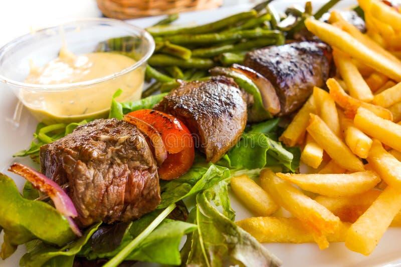Smakelijk geroosterd vlees stock afbeelding