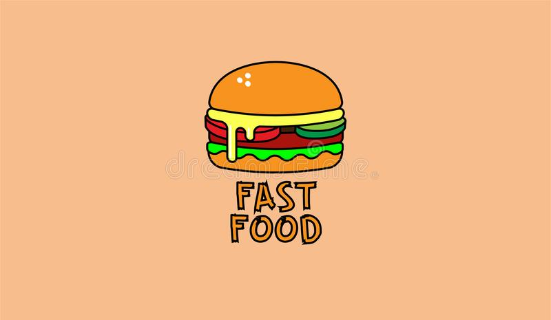 Smakelijk heerlijk hamburger snel voedsel stock foto