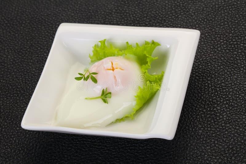 Smakelijk stroopte ei stock fotografie