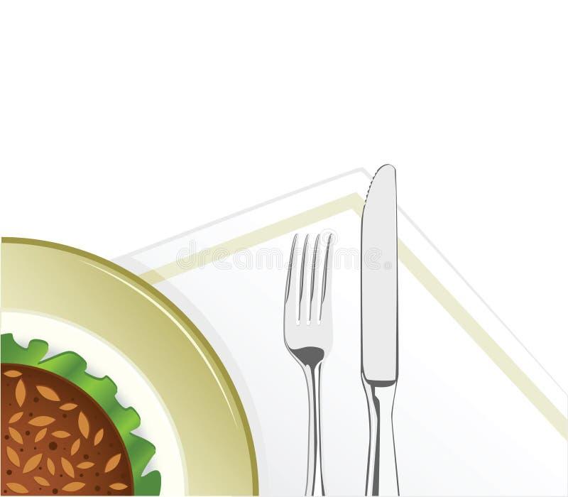 Smakelijk voedsel stock illustratie