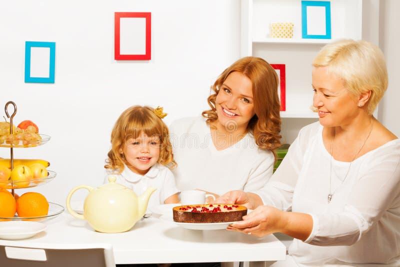 Smakelijke cake van grootmoeder royalty-vrije stock foto