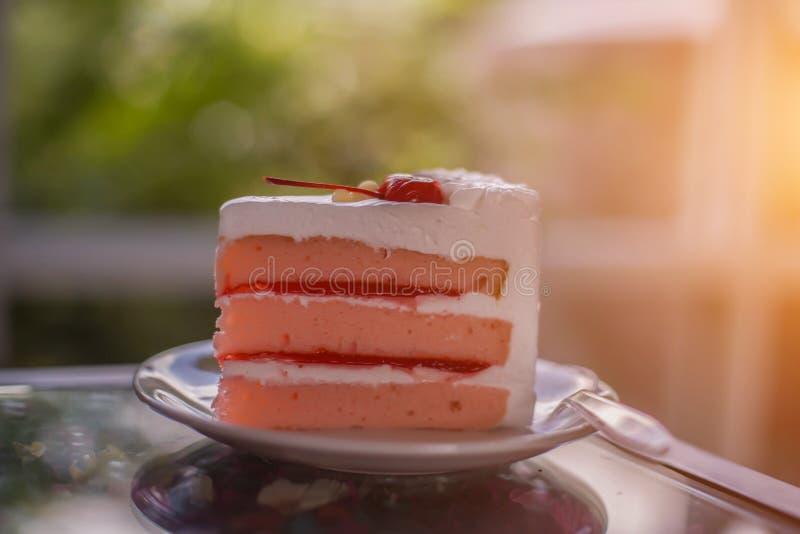 Smakelijke cakestukken royalty-vrije stock afbeelding