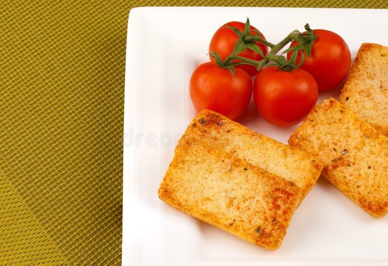 Smakelijke crackers stock fotografie