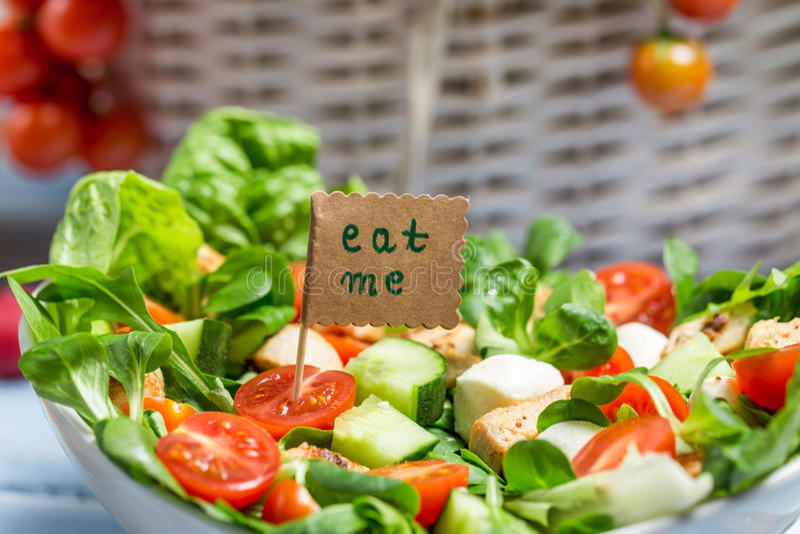 Download Smakelijke De Lente Plantaardige Salade Stock Foto - Afbeelding bestaande uit kruid, lite: 39115122