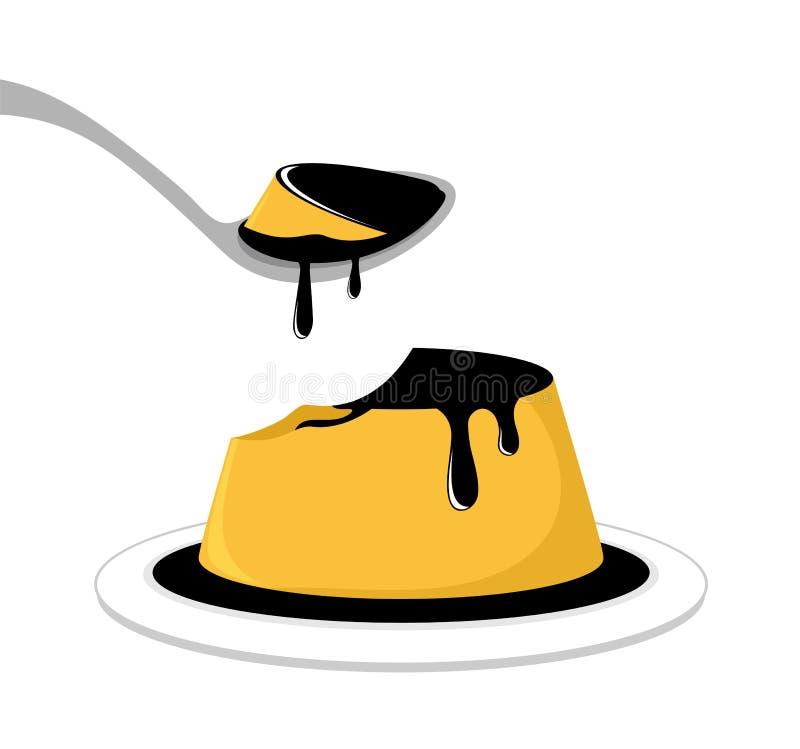 Smakelijke dessertillustratie vector illustratie