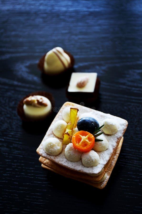 Smakelijke desserts stock fotografie