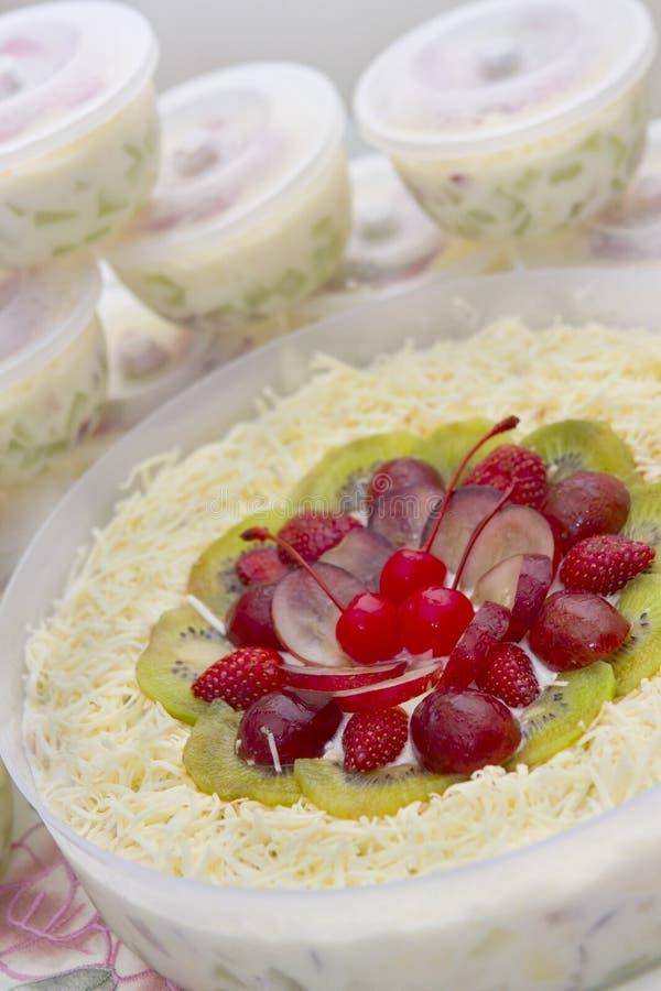 Smakelijke Fruitsalade royalty-vrije stock foto