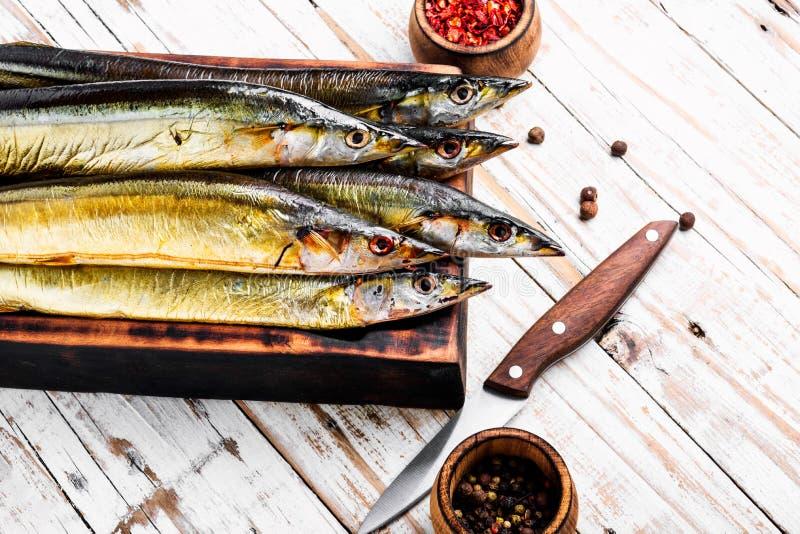 Smakelijke gerookte vissen stock fotografie