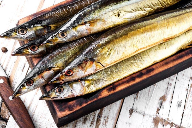 Smakelijke gerookte vissen royalty-vrije stock afbeelding