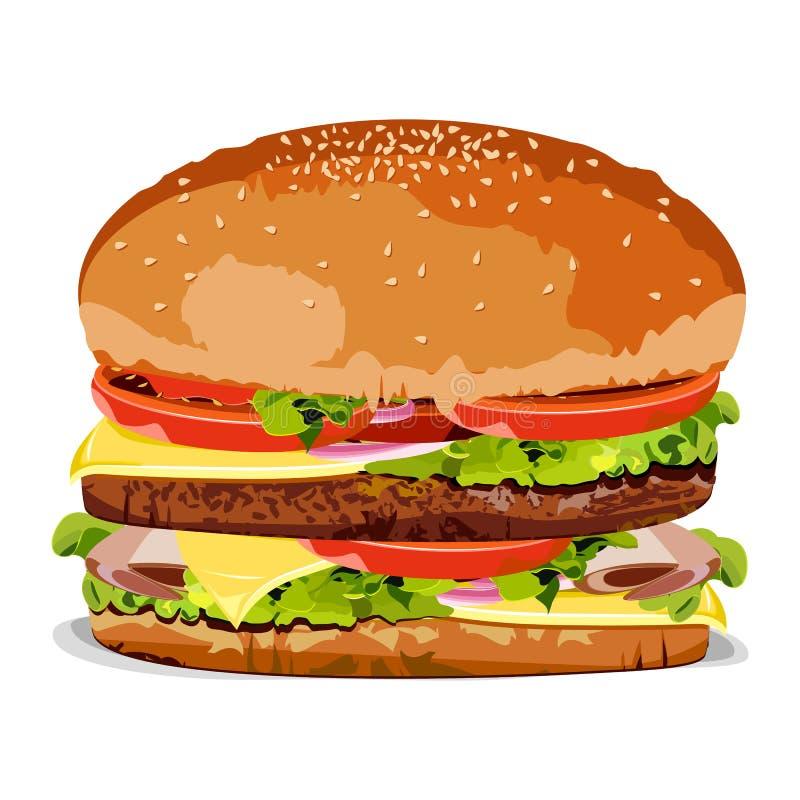Smakelijke Hamburger vector illustratie