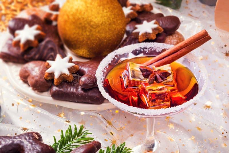Smakelijke Kerstmislikeur royalty-vrije stock afbeelding