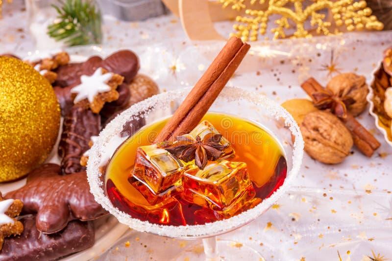 Smakelijke Kerstmislikeur stock foto's