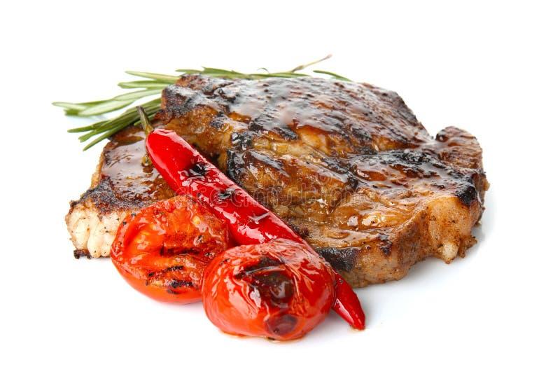 Download Smakelijke Lapjes Vlees Met Groenten Stock Afbeelding - Afbeelding bestaande uit cuisine, diner: 107702585