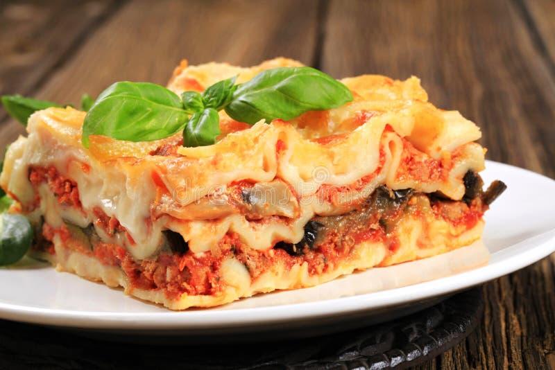 Smakelijke lasagna's royalty-vrije stock fotografie