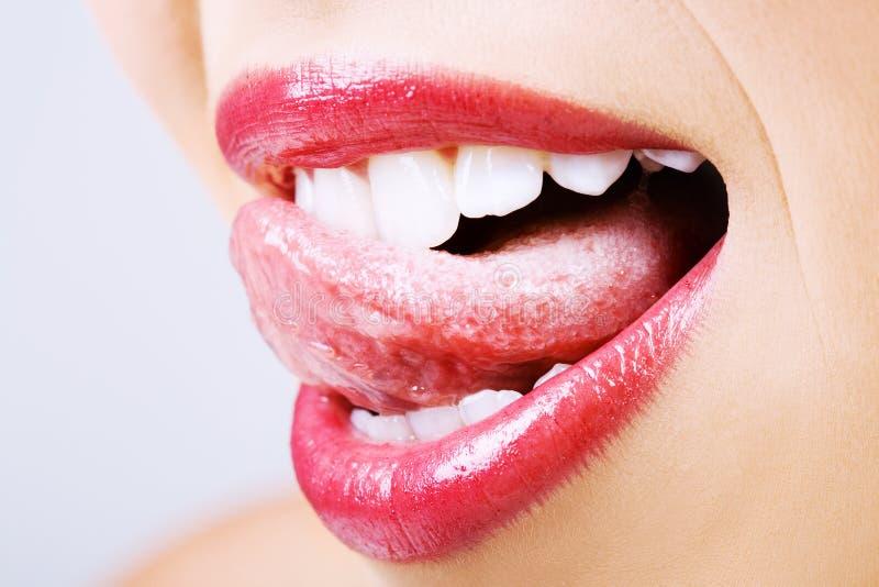Smakelijke lippen stock afbeeldingen