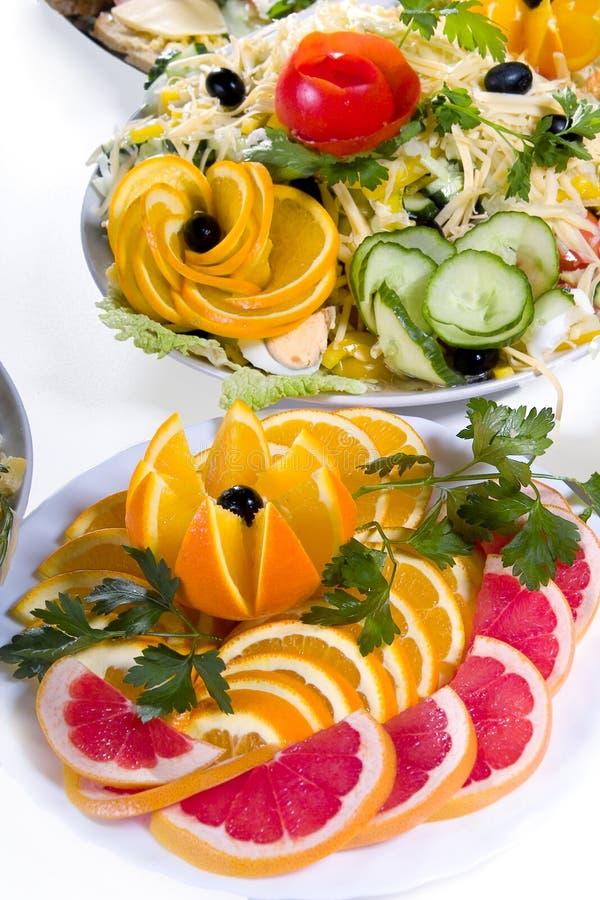Smakelijke maaltijd stock foto
