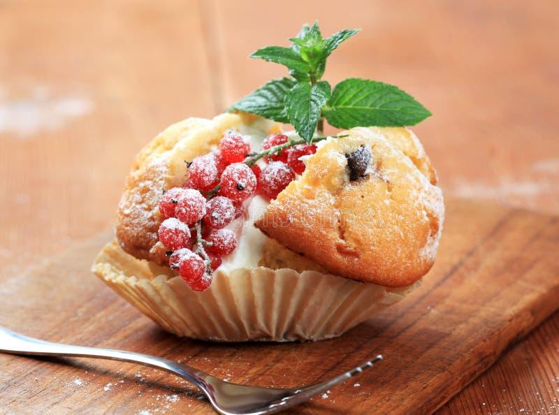 Smakelijke muffin stock afbeeldingen
