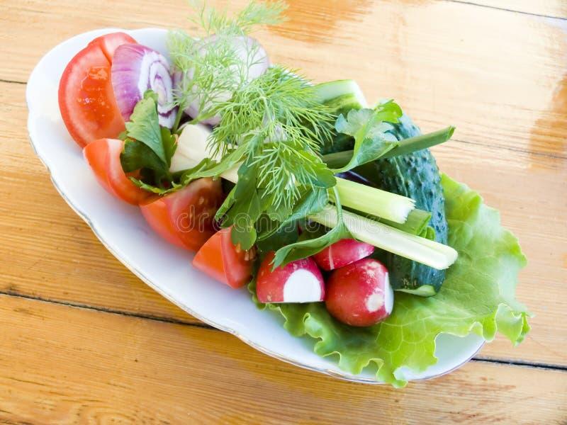 Smakelijke plantaardige salade royalty-vrije stock afbeelding