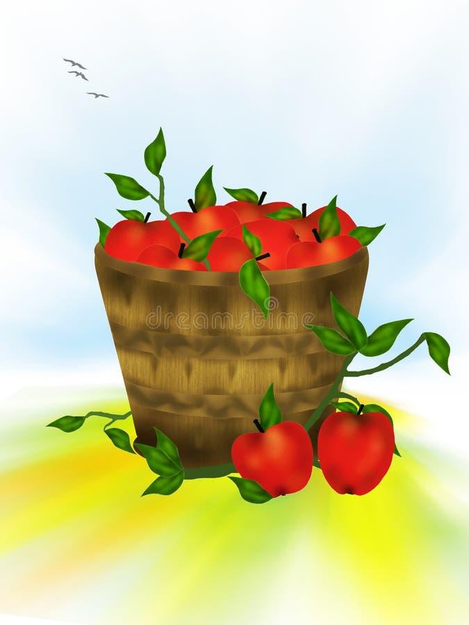 Smakelijke rode appelen