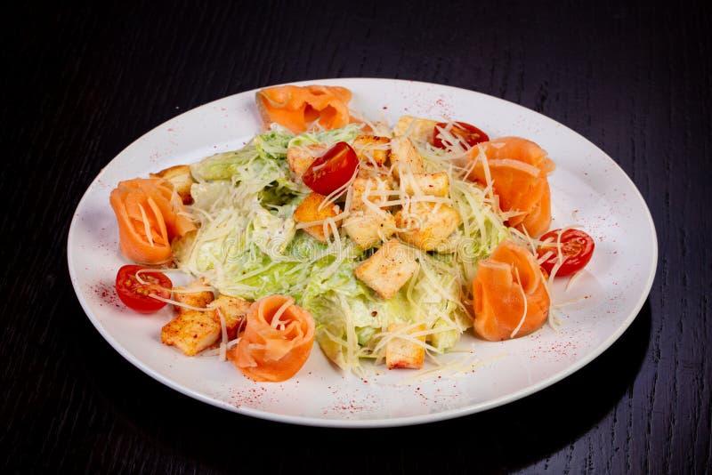 Smakelijke Salade Caesar royalty-vrije stock foto's