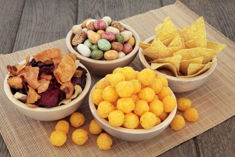 Smakelijke snacks royalty-vrije stock afbeelding