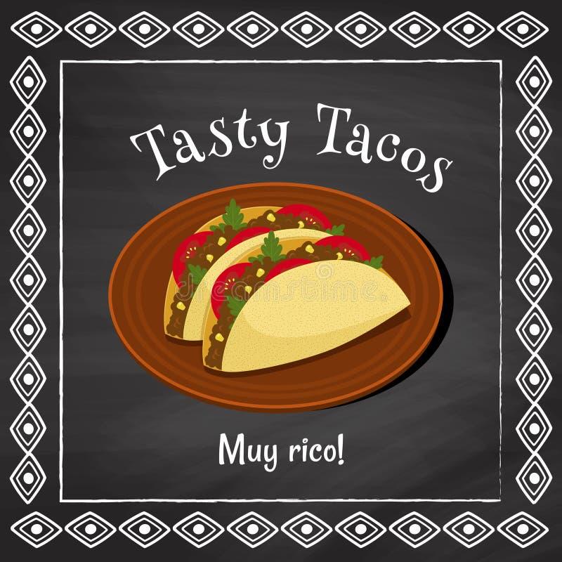 Smakelijke taco's royalty-vrije illustratie