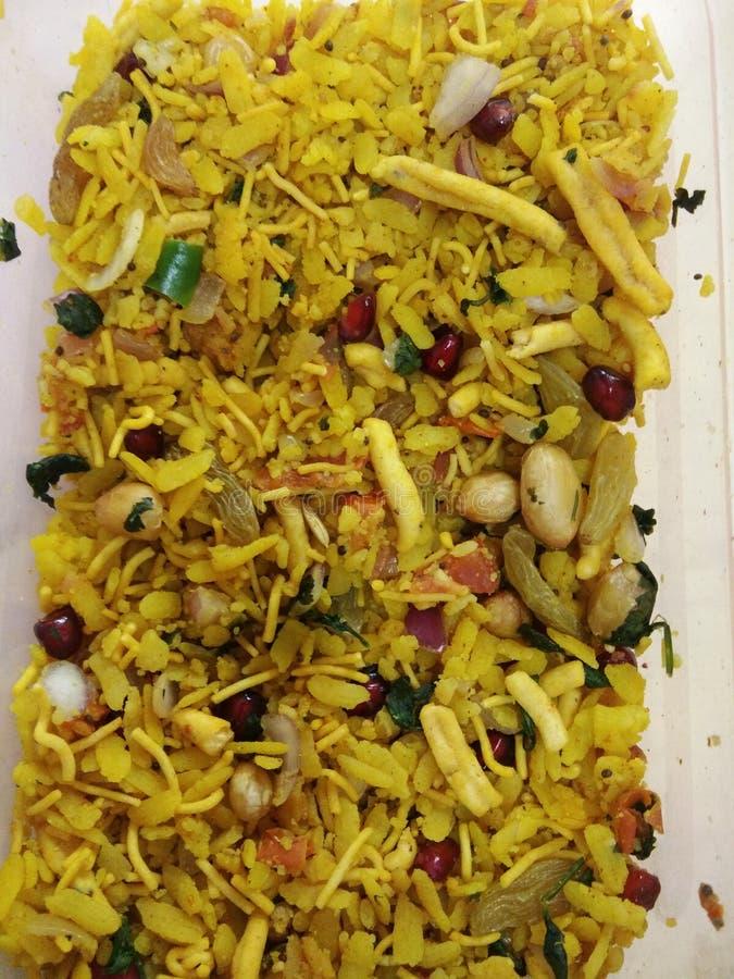 Smakelijke yummy van het Pohaontbijt stock afbeelding
