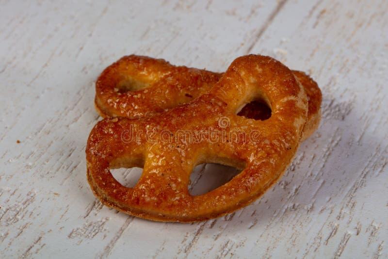 Smakelijke zoute pretzels royalty-vrije stock foto's