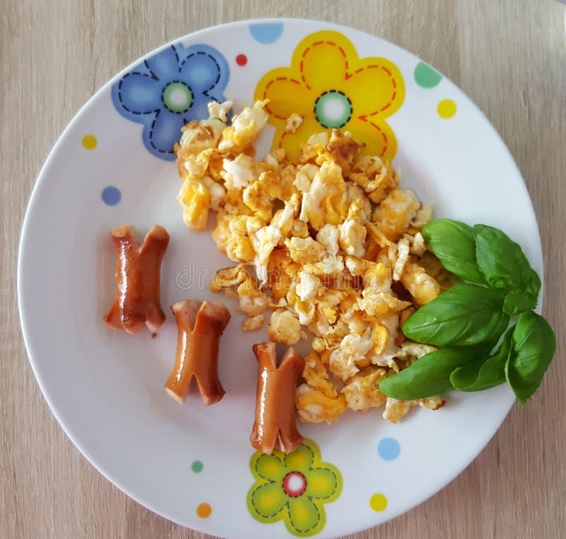 smaklig frukost arkivbild