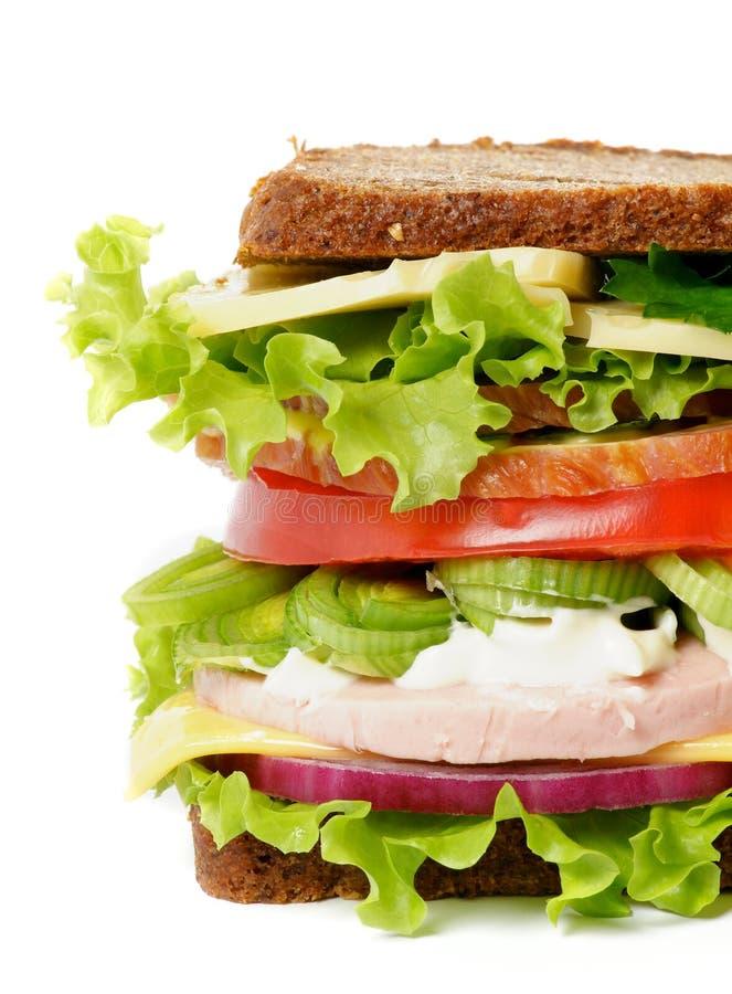 smaklig lunchsmörgås arkivfoton
