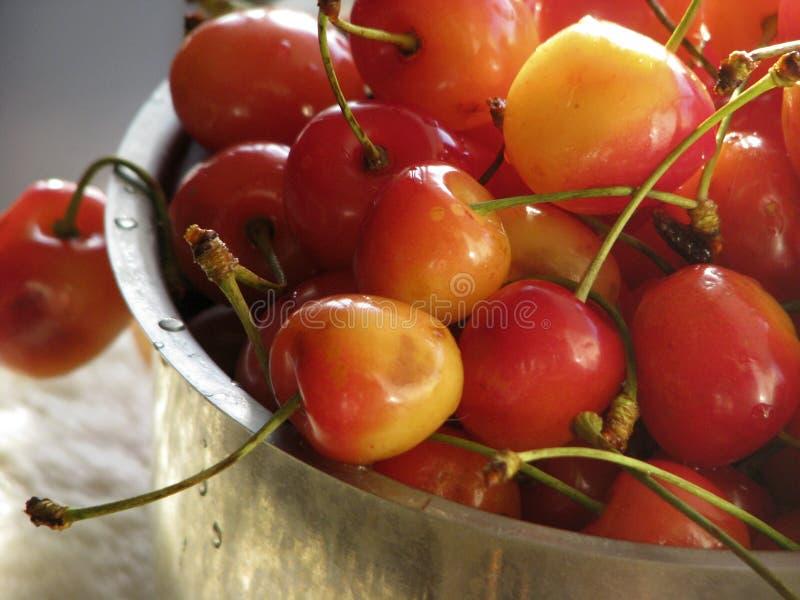 Smaklig mat för söta fruktkörsbär arkivbild