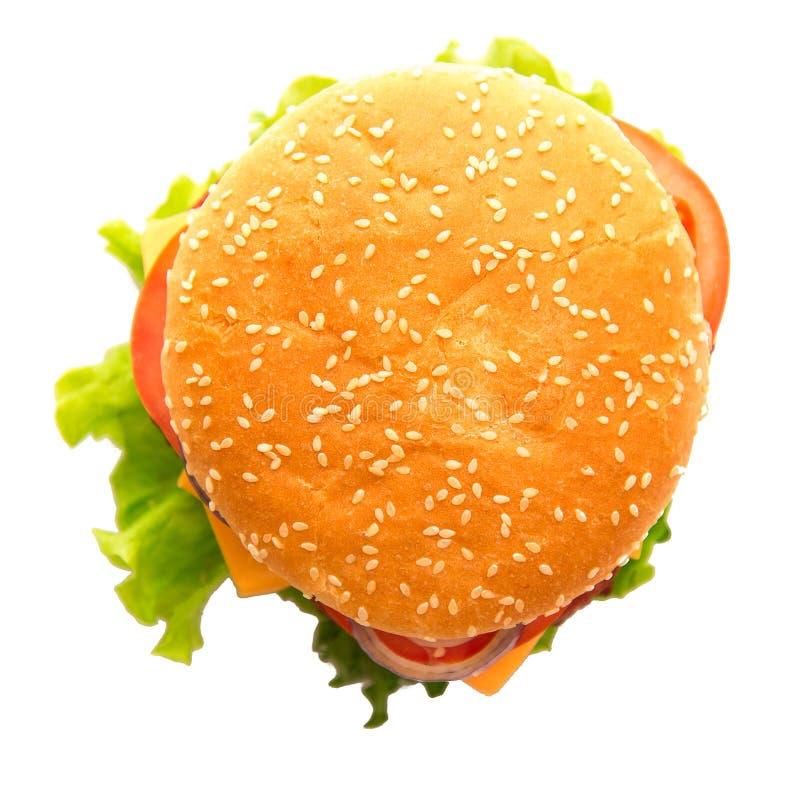 Smaklig och aptitretande hamburgare royaltyfri fotografi