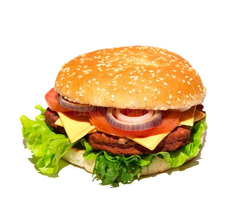 Smaklig och aptitretande hamburgare royaltyfria bilder