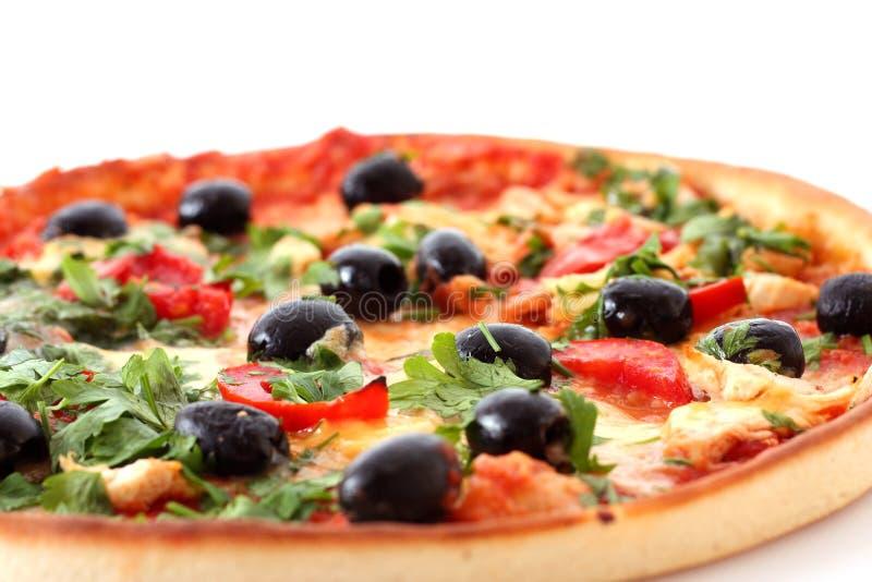 smaklig pizza royaltyfri foto