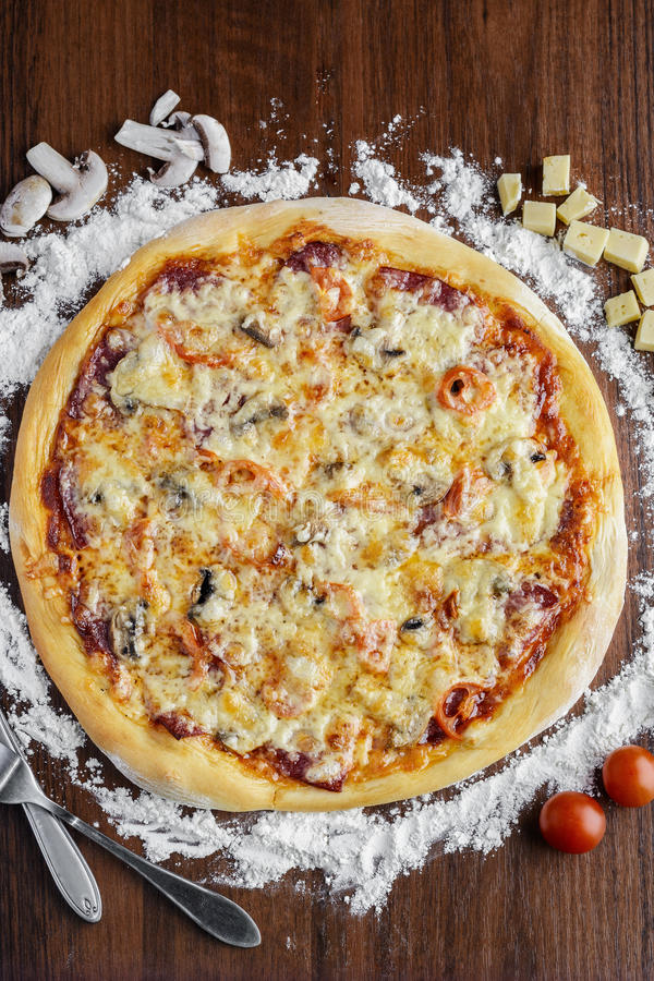 Smaklig pizza arkivfoton