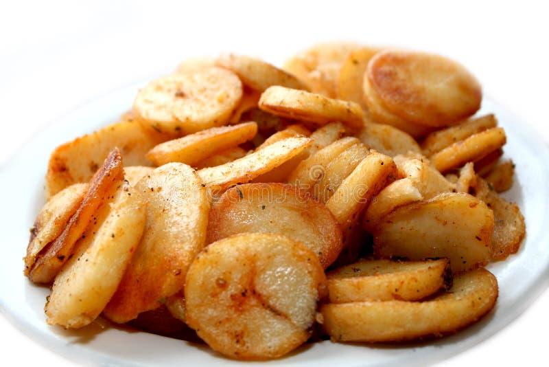 smaklig potatisstek royaltyfri fotografi