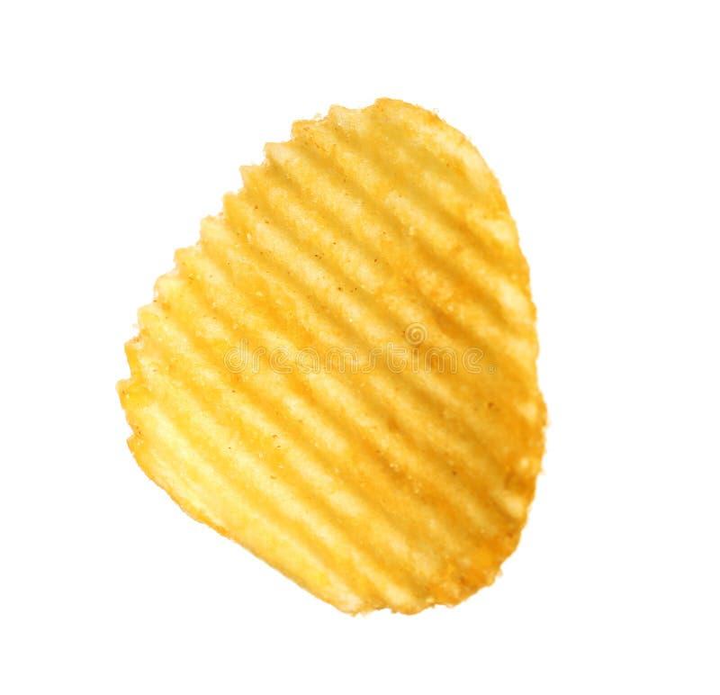 Smaklig ridged potatischip arkivbilder