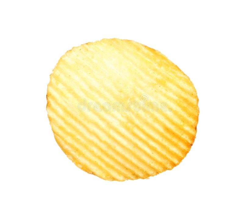 Smaklig ridged potatischip royaltyfria foton