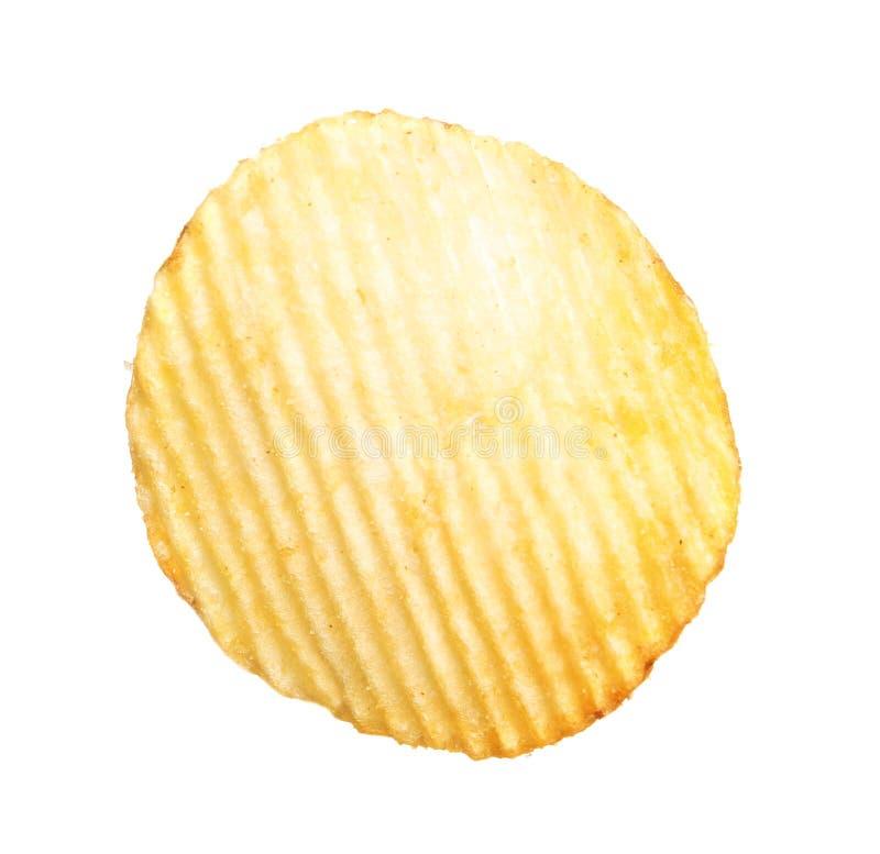 Smaklig ridged potatischip royaltyfria bilder