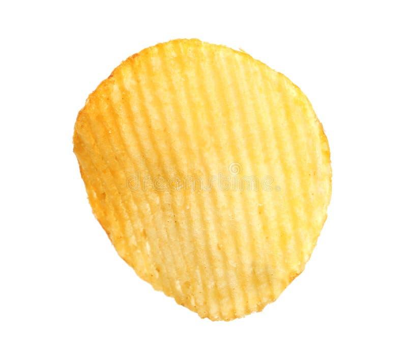 Smaklig ridged potatischip fotografering för bildbyråer