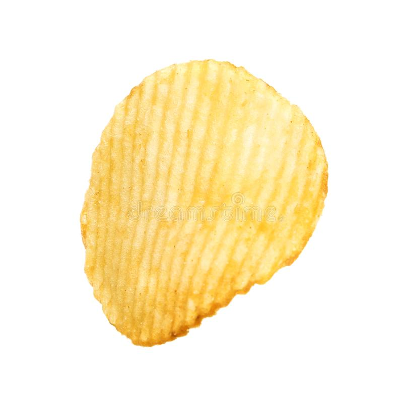 Smaklig ridged potatischip royaltyfri foto