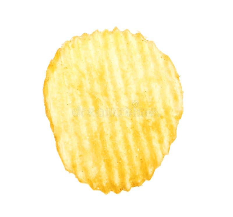 Smaklig ridged potatischip arkivfoton