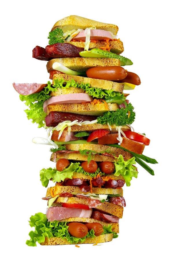 smaklig smörgås fotografering för bildbyråer