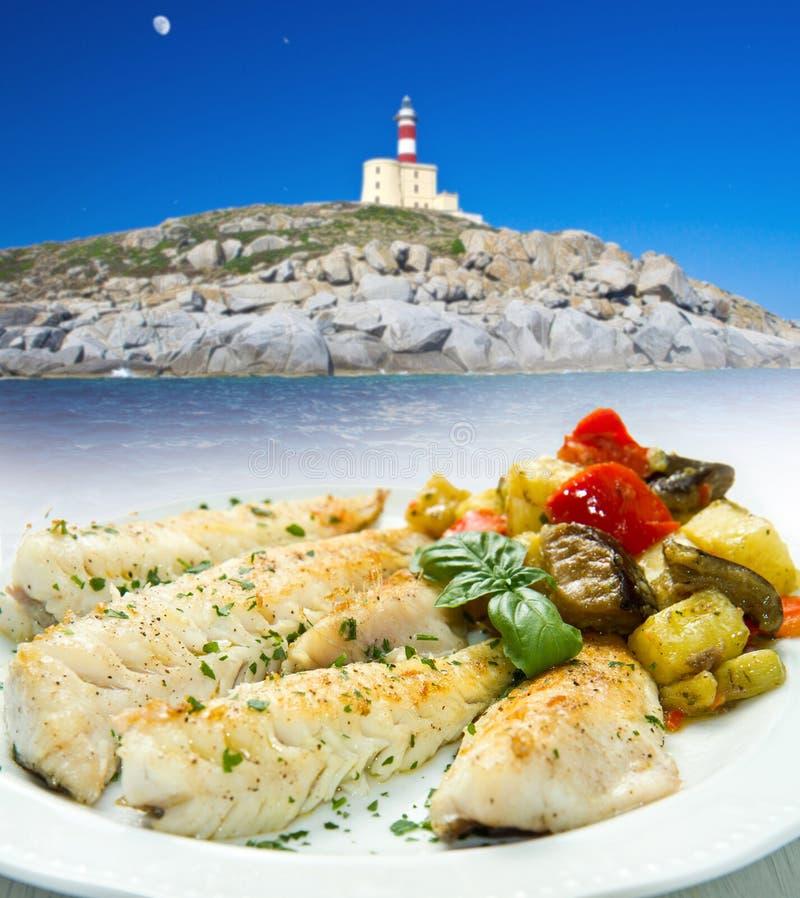 Download Smaklig sund fiskfilé arkivfoto. Bild av läckert, mål - 27275946